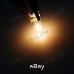 100pcs T10 194 White Halogen Bulbs Instrument Panel Light Dash Cluster Lamp