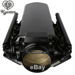 102mm Black LS1 Intake Manifold &Throttle Body LS2 LS6 Sheet Metal Al Fabricated