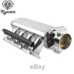 102mm silver LS1 Intake Manifold Throttle Body LS2 LS6 Sheet Metal Al Fabricated