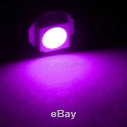 10X T5 74 SMD 5050 Instrument Gauge Dash Purple LED Bulbs light For Silverado