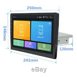 10.1 Android 8.1 1-Din Car Stereo Radio Player GPS WiFi BT Mirror Link DAB OBD