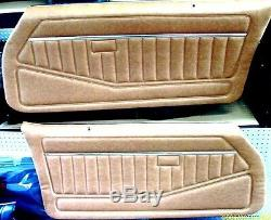 1978-81 Firebird Trans Am & Camaro Assembled Interior Door Panel Set Camel Tan