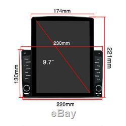 1DIN Rotatable 10.1 Android 8.1 HD 1GB+16GB Bluetooth Car Stereo Radio GPS Nav