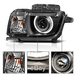 2010 2011 2012 2013 CCFL Halo Ring Projector Black Headlight For Chevy Camaro