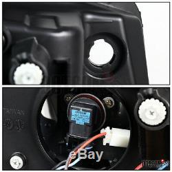 2010-2013 Chevy Camaro Black Smoke LED Bar Projector Headlights Left+Right