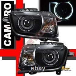 2010-2013 Chevy Camaro LS LT SS Black G3 Super Bright Halo Projector Headlights