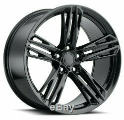 20 Inch Black Wheels 20x10 / 20x11 Fit Chevrolet Camaro Chevy Concave Set 4 Rims