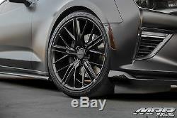 20x10 / 20x11 5x120 MRR M650 Black ZL1 Style Wheels For Chevy Camaro 20 Inch