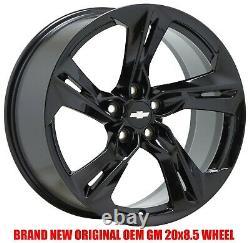 20x8.5 Chevrolet Camaro RS black wheels rims Factory OEM 20 set 4 5874 W Caps