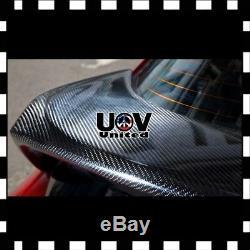 24 x 60 7D Premium Hi Gloss Black Carbon Fiber Vinyl Wrap Bubble Free Release