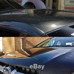 24 x 60 Black Carbon Fiber 7D Premium Gloss Vinyl Wrap Bubble Free Release PRO