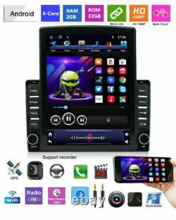 2DIN Rotatable 10.1 Android 9.1 HD GPS WIFI Quad-core 2GB+32GB Car Stereo Radio