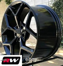 (2) 20 x9 (2) 20x 10 inch Chevy Camaro Z28 OE Replica Wheels Gloss Black Rims