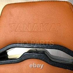 2 X Tanaka Tan Pvc Leather Racing Seats Reclinable + Diamond Stitch Fits Camaro