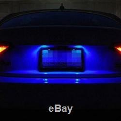 2pcs Blue 6-SMD T10 168 194 2825 LED Bulbs Car License Plate Lights 12V