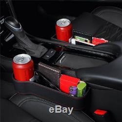 2x Car Seat Storage Box Cup Drink Holder Organizer Gap Pocket Driver + Passenger