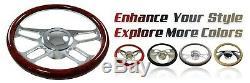32 GM Chrome Stainless Tilt Steering Column Manual/Floor Shift No Ignition KEY