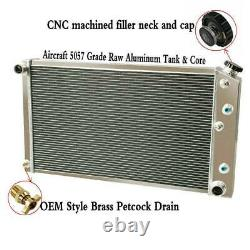 3 Row Aluminum Radiator Shroud Fan for 78-87 Chevy Monte Carlo Camaro C10 C20