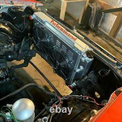 3 Row Radiator &Shroud Fans for 78-87 Chevy Camaro Monte Carlo C10 C20 Caprice