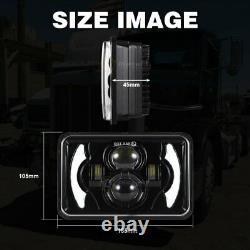 4PCS 4x6 LED Headlights Hi/Lo Sealed Beam Bulb Headlamps For Chevrolet Camaro
