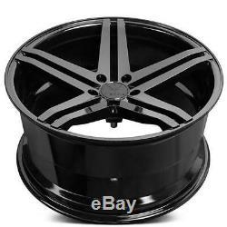 4Rims 19 Verde Wheels V39 Parallax Gloss Black Rims