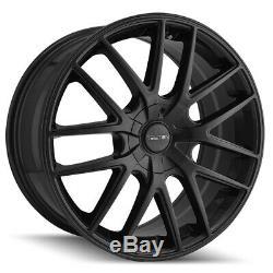 4-Touren TR60 17x7.5 5x112/5x120 +42mm Matte Black Wheels Rims 17 Inch
