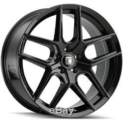 4-Touren TR79 18x8 5x120 +35mm Gloss Black Wheels Rims 18 Inch