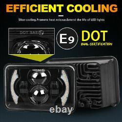 4pcs 4X6'' Hi/Lo beam DRL LED Headlight for Chevy C10 C20 C30 Camaro Ford 81-87