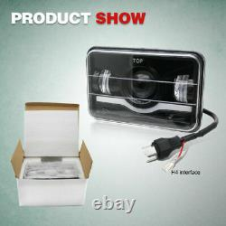 4pcs 4x6 Inch Hi/Lo Beam DRL LED Headlight for GMC C4500 Chevrolet C5500 Kodiak