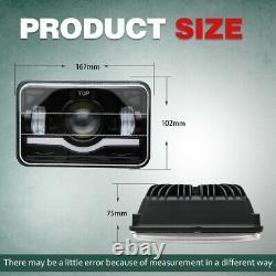 4pcs 4x6 LED Headlights Hi/Lo Beam for Chevy C10 C20 C30 Camaro EI C5500 Kodiak