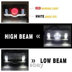 4pcs 4x6 LED Headlights Hi/Lo Sealed Beam For Chevrolet Monte Carlo 80-88 Camaro