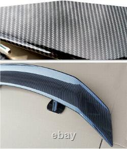 53 INCH Car Tail-free Trunk Spoiler Rear Wing Self-adhesive 3D Carbon Fiber Look