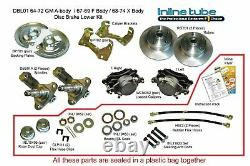 64-74 GM AFX Body Front Disc Brake Conversion Wheel Kit Set Caliper Rotor Stock