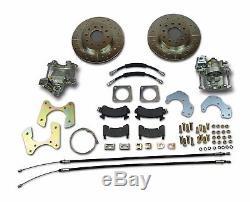 64-77 GM 10 12 bolt rear axle end disc brake conversion kit with parking brake