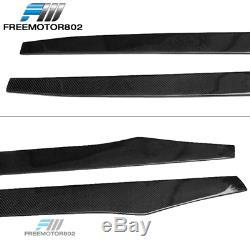 81 Inch Universal CF Side Skirts Extension Spoiler Splitters Lip Carbon Fiber