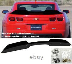 Add on Rear Trunk Decklid Gurney Flap Wicker bill For 10-13 Camaro ZL1 Spoiler
