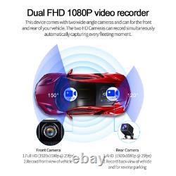 Android 8.1 10In Car Cam Dual Lens Dash Camera Driving Recorder GPS Navigation
