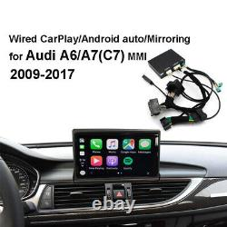 Apple&Android Auto Mirroring CarPlay Decoder Kit Fit For Audi A6 A7 C7 MMI