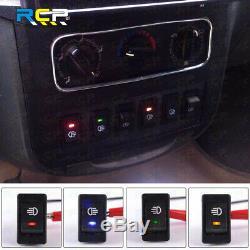 Blue LED On/Off Indicator Rocker Toggle Switch Driving Fog Lamp/Work Light Bar