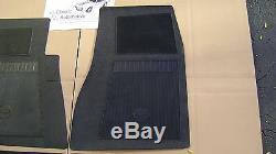 Bowtie Floor Mats Black GM Licensed Chevelle Camaro Impala Nova 4pc bow tie