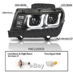 CCFL U Style Tube 2014 2015 Chevy Camaro Projector Black Headlights Pair