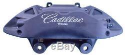 Cadillac 4 Piston Brembo Front Set Brake Calipers Factory Pin Kit and Brake Pads