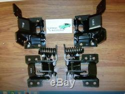Camaro Firebird Nova Door Hinge Kit 68 69 4pc Upper and Lower set of hinges