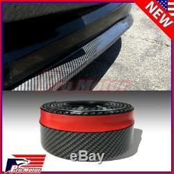 Carbon Fiber Universal Front Spoiler Bumper Lip Chin Roll Skirt Rubber Splitter
