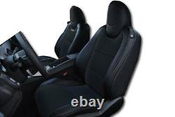 Chevy Camaro 2010-2015 Black Iggee S. Leather Custom Fit Front Seat Cover
