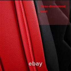 Deluxe Full Surround Car Seat Cover PU Leather Full Set For Interior Accessories
