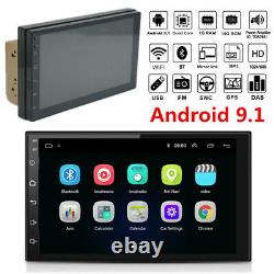Double Din 7 Touch Screen Android 9.1 Car Stereo Radio GPS Navigation Wifi MP5