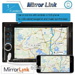 Double Din Touchscreen Car Radio CD DVD Stereo Mirror Link For GPS Free Camera