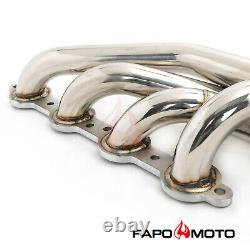 FAPO Turbo Headers for Chevy GM Small Block LSX LS1 LS6 1-7/8 304SS Up&Forward