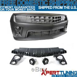 Fit 10-13 Chevy Camaro PP Polypropylene Front Bumper Cover Conversion Kit
